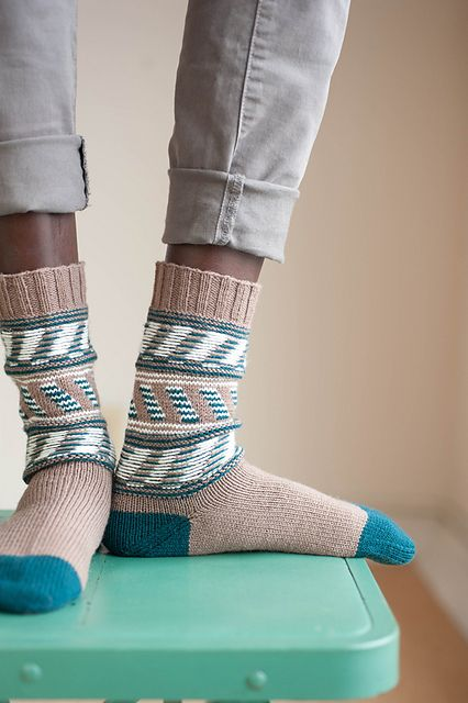 Ravelry: Harbor Bar Socks pattern by Cookie A