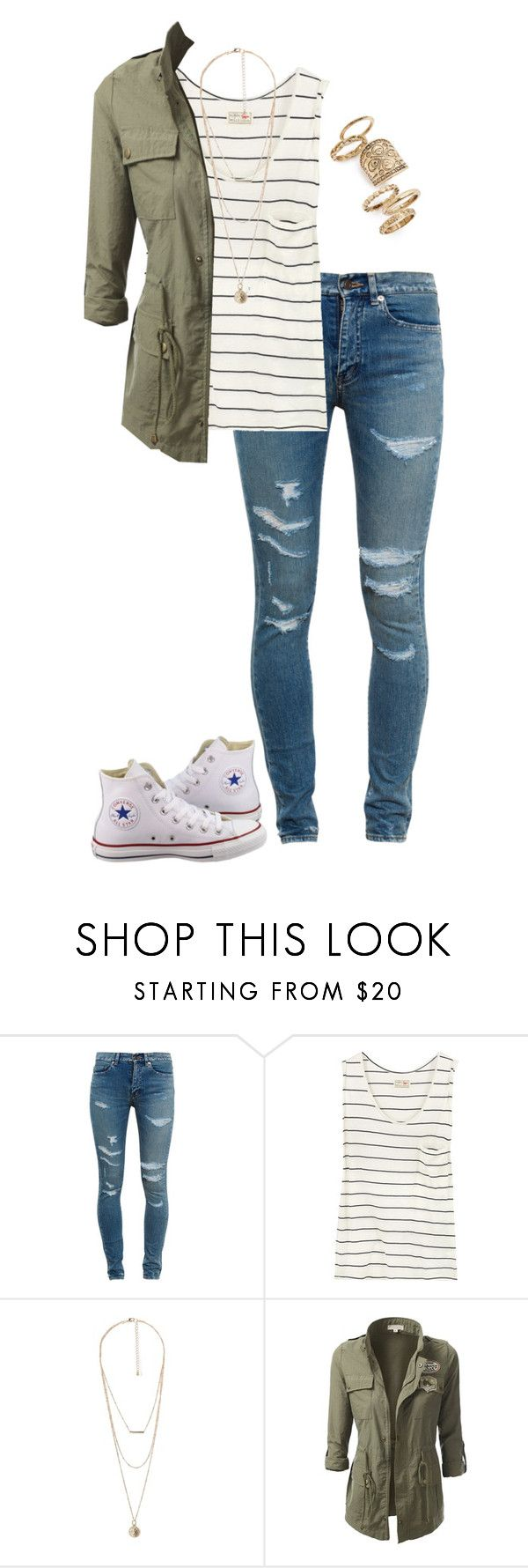 """""""A whole new world"""" by madisonpeters00 ❤ liked on Polyvore featuring Yves Saint Laurent, Aubin & Wills, MANGO, J.TOMSON, Topshop and Converse"""