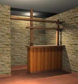 Barra para bar 3d (3dsDibujo 3D Studio)