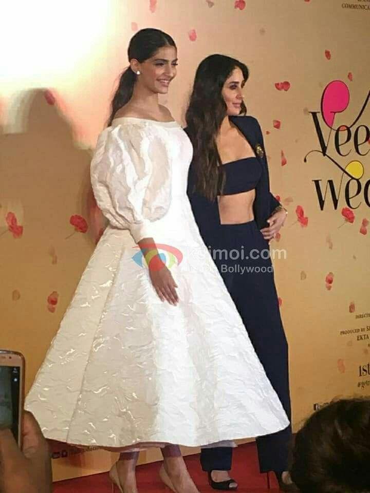 Veere Di Wedding Trailer.Sonam Kapoor And Kareena Kapoor At Veere Di Wedding Trailer Launch