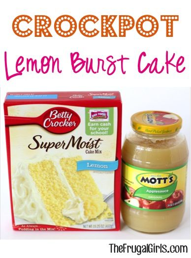 Crockpot Lemon Burst Clake Recipe! ~ from TheFrugalGirls.com ~ this simple Slow Cooker cake is so easy to make, moist, and delicious!! #slowcooker #recipes #thefrugalgirls