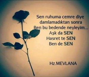 Mevlana Aşk Sözleri ~ Güzel Sözler