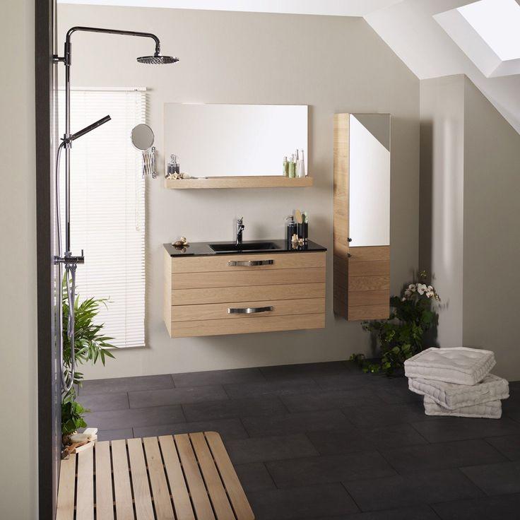 Meuble mural avec vasque swithome othelo ch ne - Meuble de salle de bain mural ...