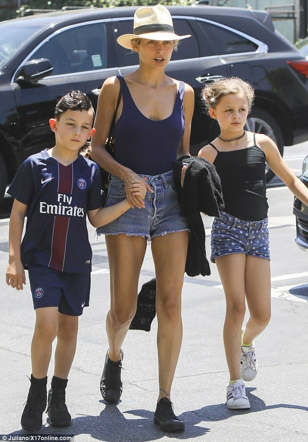 Mom duty: Nicole Richie stepped out with her children in Los Angeles on Tuesday...