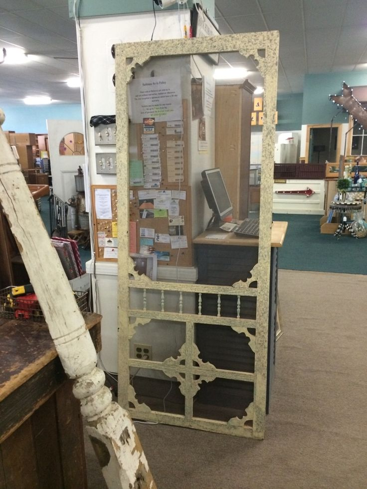 Vintage Screen Door Given New Life! - I've been searching for an old screen door to replace my wooden pantry door for months! Found this beauty at an architectu