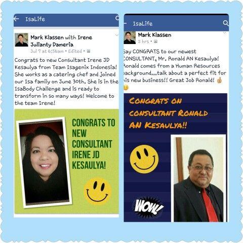 1 week got 2 members and be the consultant    http://Irenekesaulya.isagenix.com