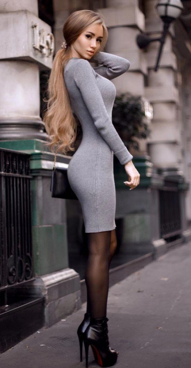 63603a332686 Classy Women · Elegant Woman · Skin Tight · Sexy. Tight Dresses, Sexy  Dresses, Beautiful Dresses, Classy Casual, Black Nylons