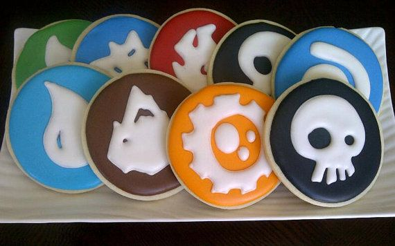 Skylanders Decorated Sugar Cookies