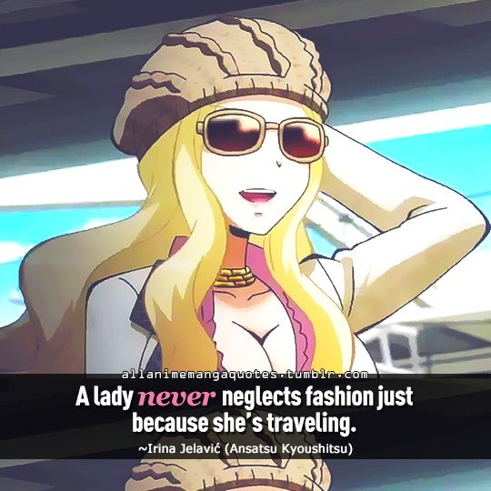 "Manga Anime Just Because: ""A Lady Never Neglects Fashion Just Because She's"