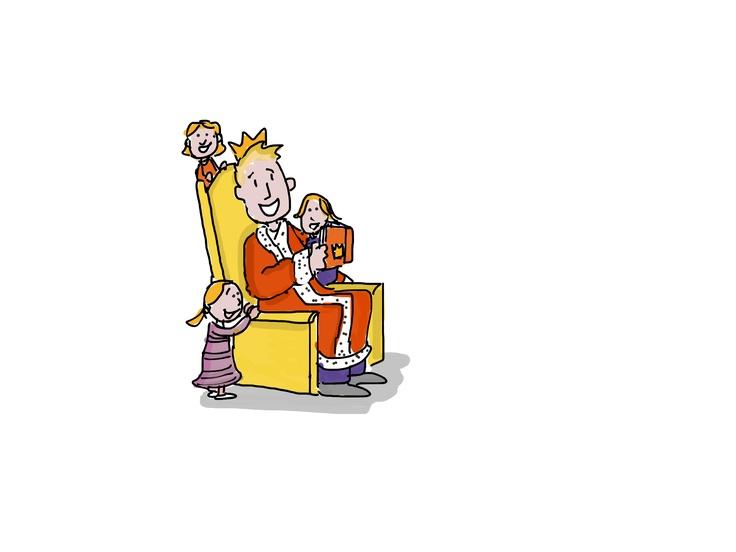 Koning Willem leest voor