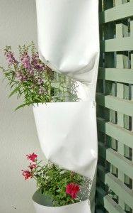 Vertical Gardens - perfect for a small space and can hang anywhere #greenwall #hanginggarden #verticalgarden #green #garden #outside