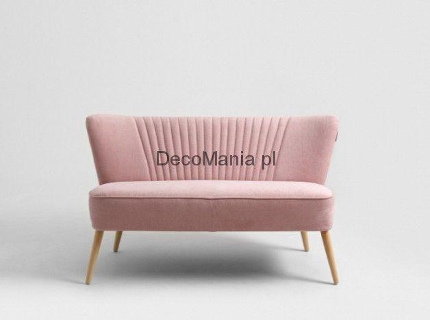 Sofa - CustomForm - Harry 2os. Różowa beza, naturalny | DecoMania.pl