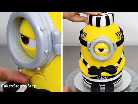 Prisoner Minion cake tutorial by Cakes step by step! - The Party Project | 33 Most brilliant & sensational Minion cake ideas!