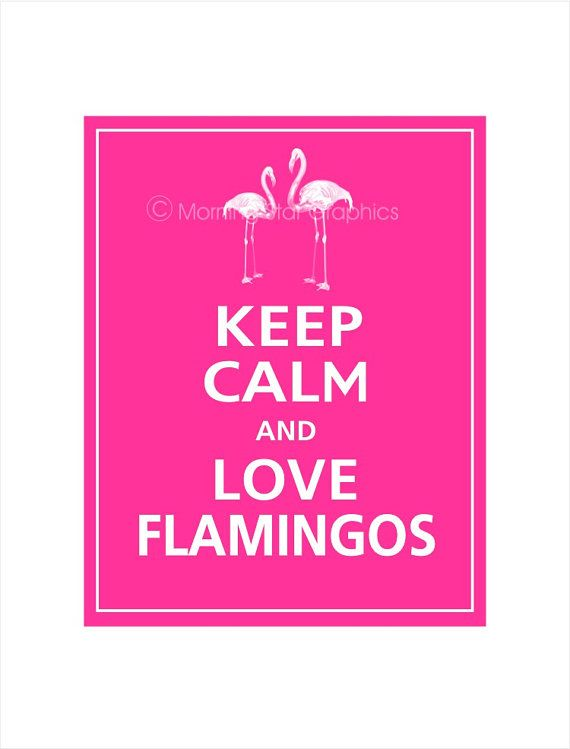 Keep Calm and LOVE FLAMINGOS Print 11x14 Carnival by PosterPop, $14.95