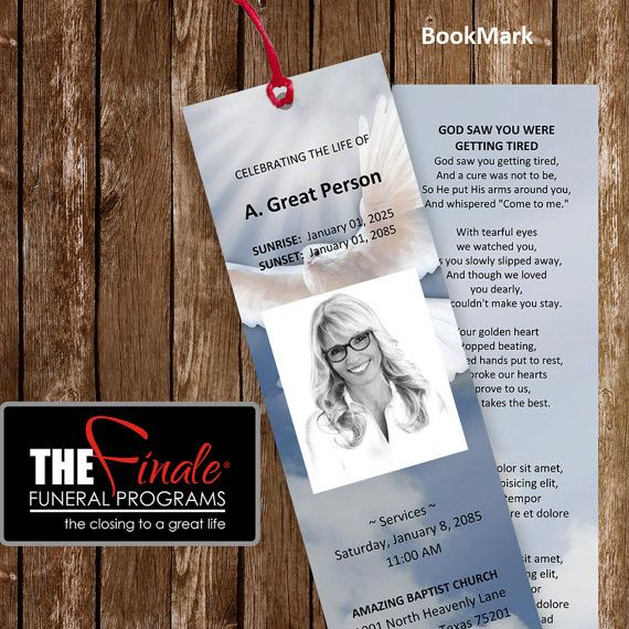 funeral bookmarks template free - 36 best funeral program templates images on pinterest