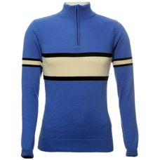 Jura Cycle Clothing - Slate Blue, Black & Ecru Stripe Cycling Jersey