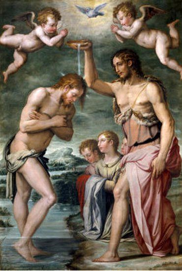 Baptism Of Christ  Giorgio Vasari