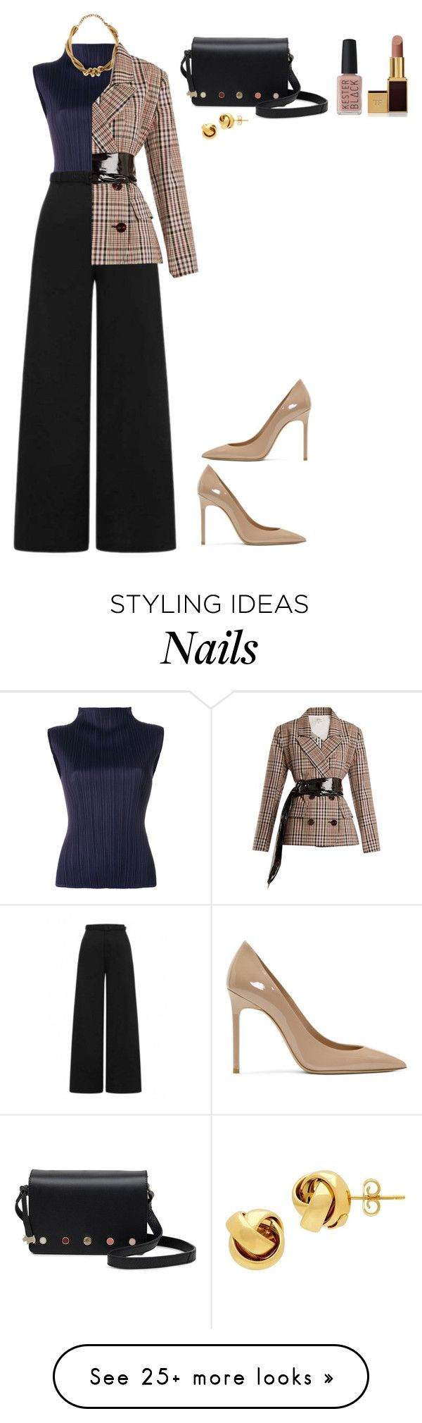 """Untitled #503"" by zahraamuhee on Polyvore featuring Pleats Please by Issey Miyake, Collectif, Yves Saint Laurent, Radley, Oscar de la Renta, Isa Arfen, Lord & Taylor, Tom Ford and Kester Black"