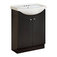 cheap vanity from Home Depot - also in white