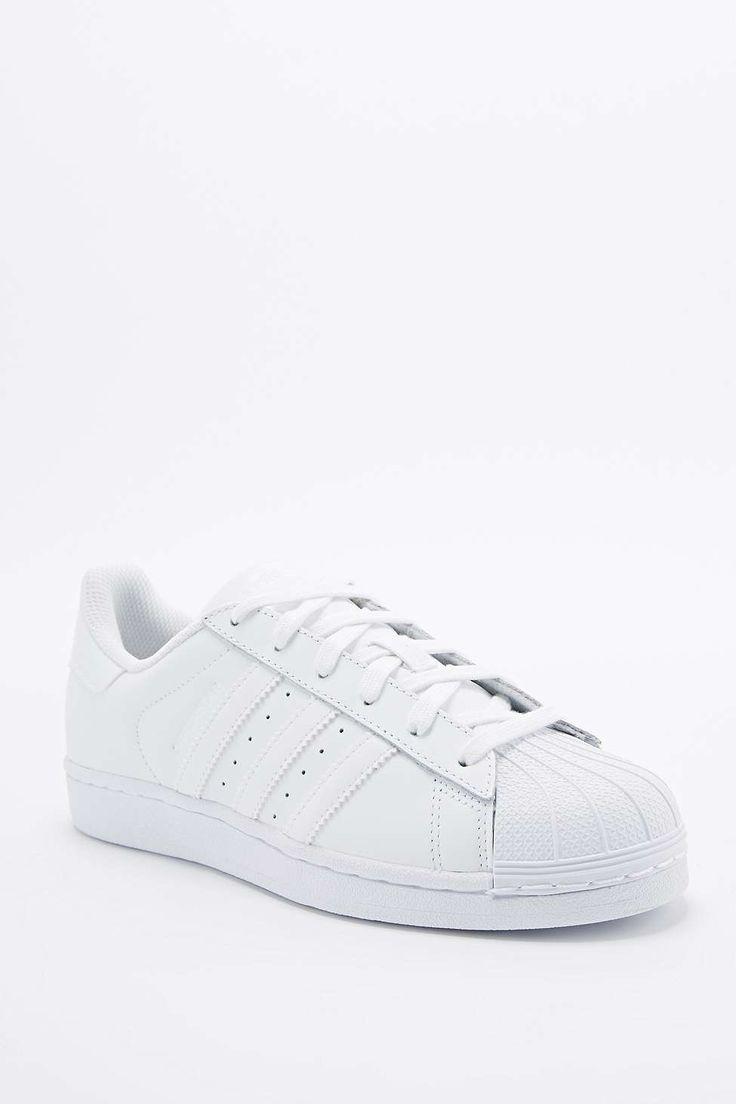 adidas all white superstar