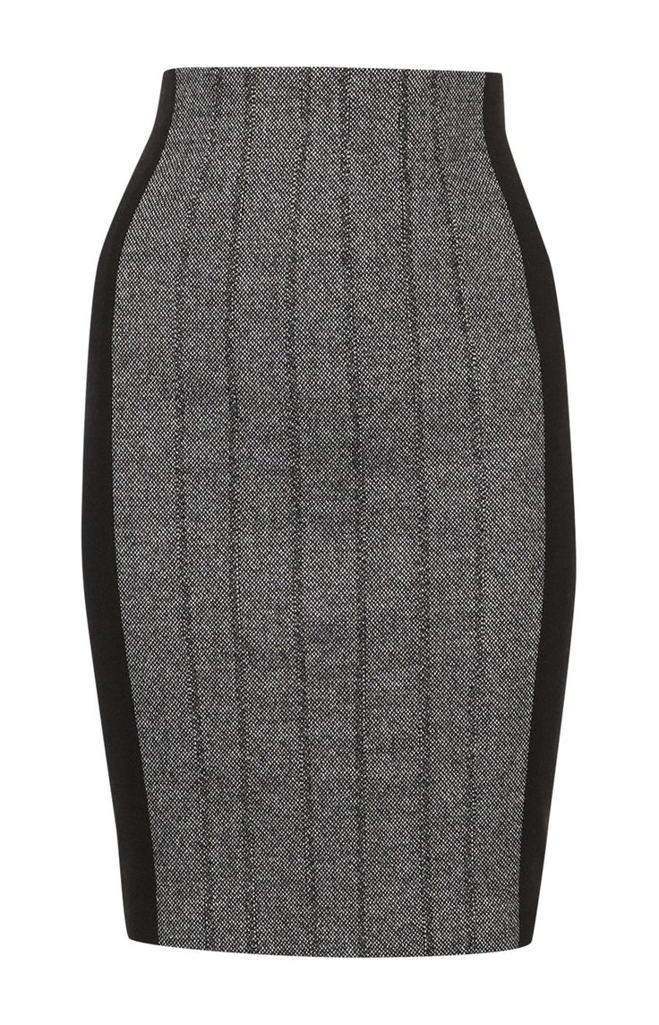 Fitted black and grey skirt