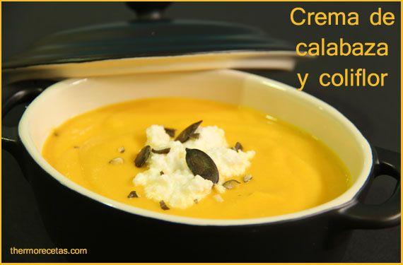 crema de calabaza y coliflor thermorecetas Crema de calabaza y coliflor