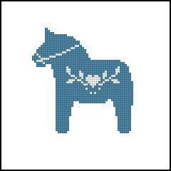 Digital item counted cross stitch pattern Scandinavian Horse instant download