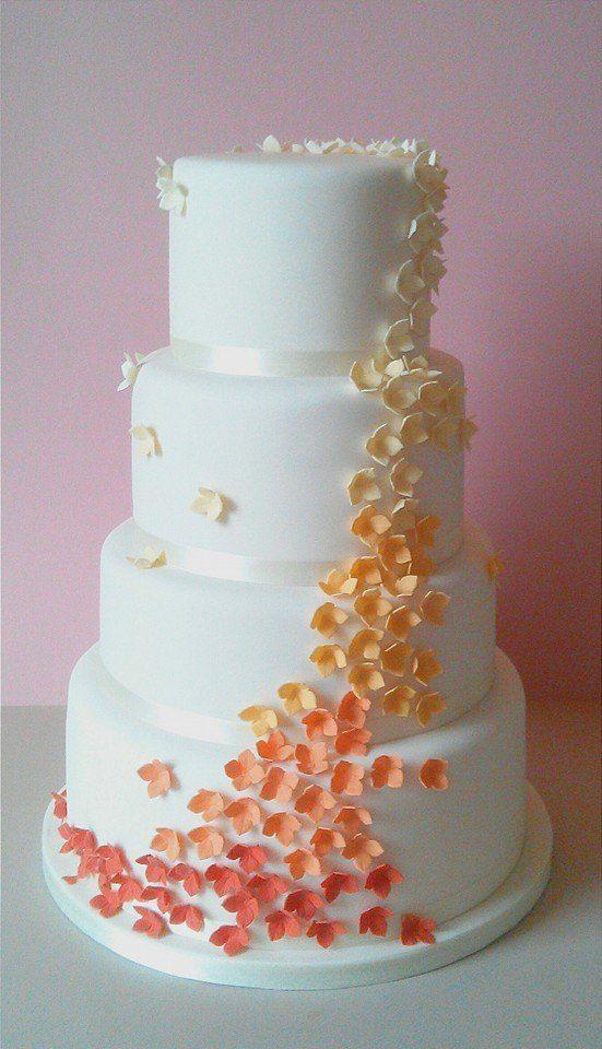 Ombre Blossom Wedding Cake LincolnWedding CakesShadowBlossoms