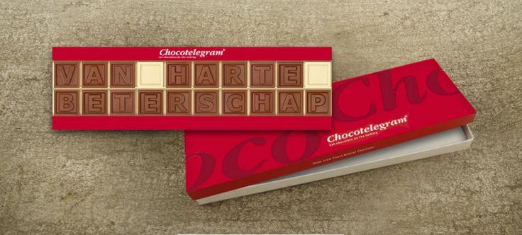 Zorg voor een origineel cadeau! Wens iemand beterschap in chocolade, valt altijd in de smaak!  Snel en veilig betalen!