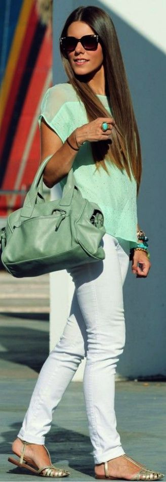 Spring/Summer Trend Mint Outfit