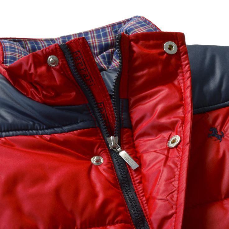 Kid's Ferrari Vest #Ferrari #FerrariStore #Kids #Collection #FallWinter2015 #Vest #RossoFerrari #RedMaranello #Sporty #Style #Comfort #Passion #CavallinoRampante #PrancingHorse #Young #Maranello #Fans #Red #Blue