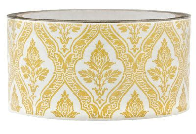 Tape-Yellowish Gold Floral on Clear Tape