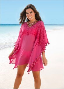 Пляжная туника, bpc selection, ярко-розовый