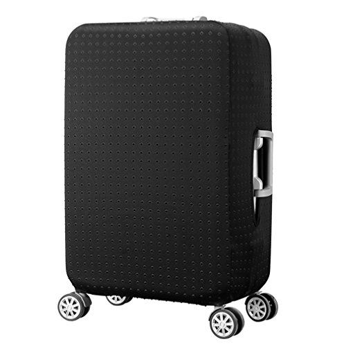 Water-Resistant Luggage Cover Protector Elastic Dust Suitcase Cover 19-28 inch  Made of 95% polyester and 5% spandex (We are just selling the suitcase cover instead of suitcase)  Luggage covers are easy to put on and remove and easily identify your bag with your own personalized cover  Cover protects Luggage against scratches and dirt, Durable and Washable  Double-stitched all over, full of stretch and high elasticity, ensure your suitcase stays shut during the trip  Fits most major lu...