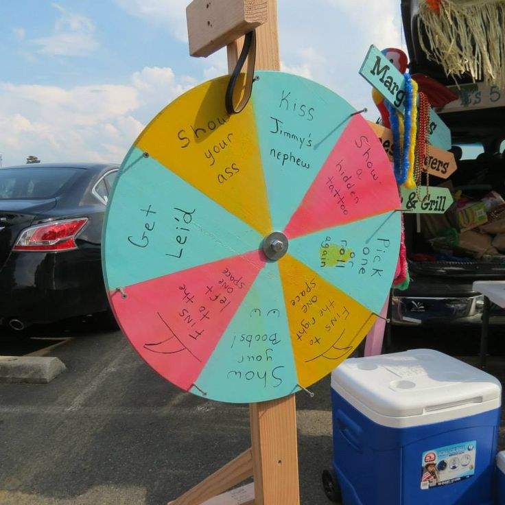 We need to make something like this for the next Jimmy Buffett concert!  I would change a few things for our Wheel of Fortune, though!