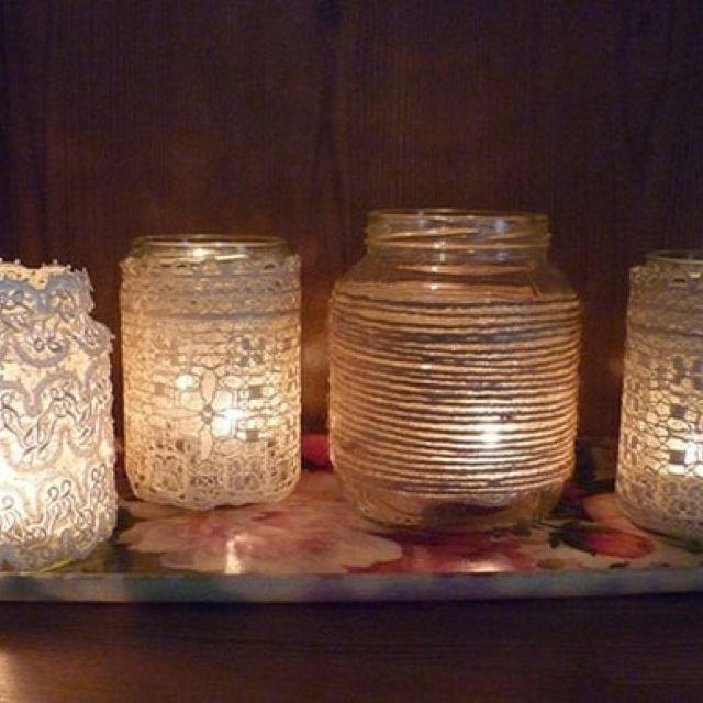 Considering mason jar centerpieces, cute for a budget wedding =]