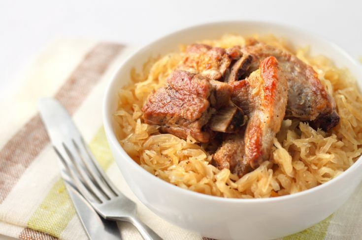 Crock Pot Country Ribs and Kraut