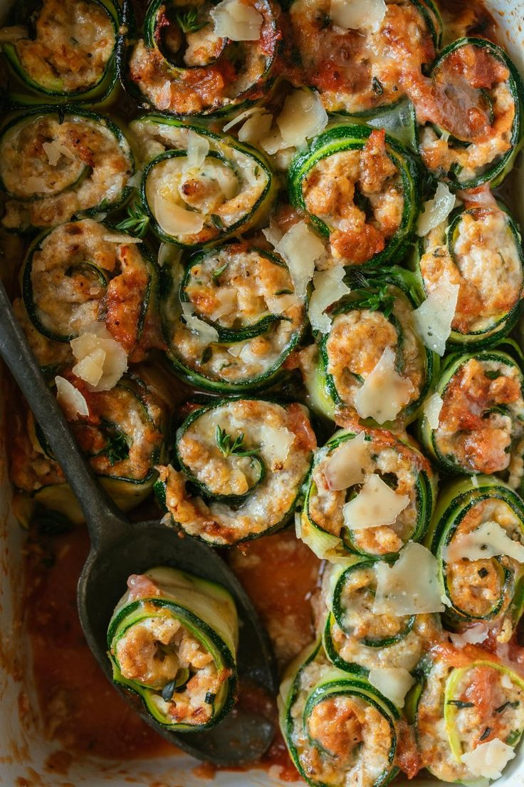 Zucchini Lasagna Roll Ups