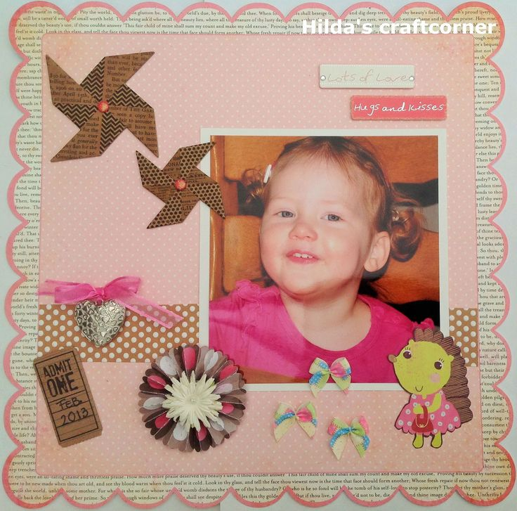 "Hilda's craftcorner: ""Lots of love""."