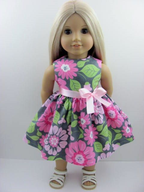 Doll couture | ... Doll Dress for the American Girl Doll from The Whimsical Doll 2, $11