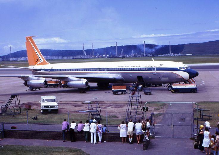 SAA 707 at Louis Botha airport in Durban