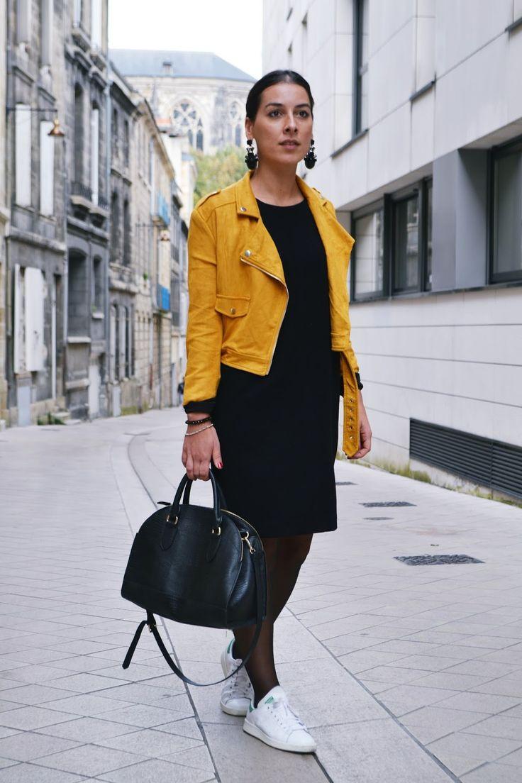 L'article en perfecto jaune .. - Le Dressing à Paillettes