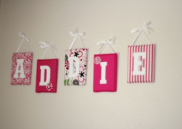 Nursery Names Wall Letters