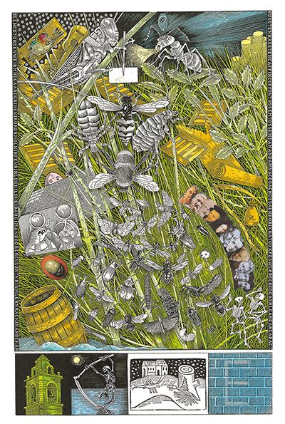 John Vernon Lord's Whimsical Illustrations for James Joyce's Finnegans Wake