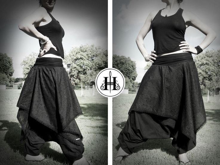 [Tuto] Jupe-Sarouel Asymétrique toutes Tailles {Enfant & Adulte} | HEKATE • Couture Éthique & Mystique par KeïKo