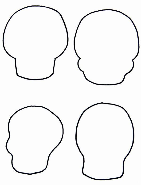 felt sugar skull pattern - Google Search
