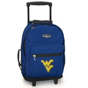 WVU Rolling Backpack Navy West Virginia University - Wheeled Travel or School Carry-On Travel Suitcase Bags with Wheels - Best Quality (Apparel) http://documentaries.me.... B004CU7FH0