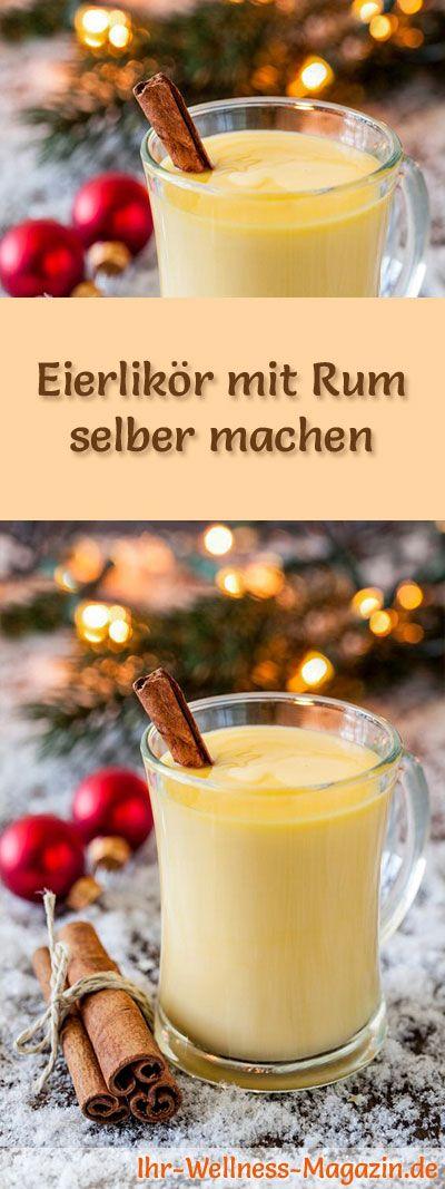 Selbstgemachter Eierlikör - Rezept: Eierlikör mit Rum selber machen - so geht's ... #weihnachten