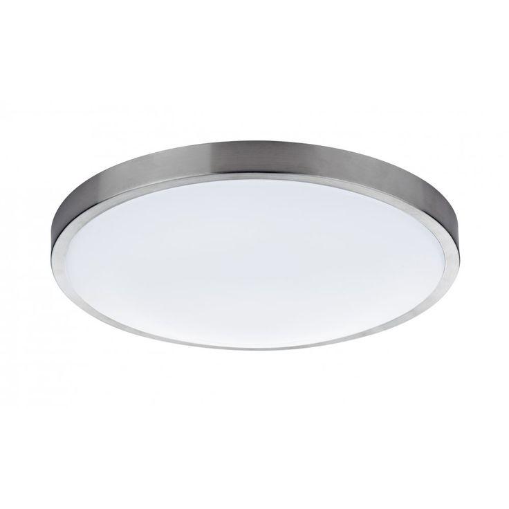 bathroom ceiling lights led. dar lighting oban single light led flush bathroom ceiling fitting in satin chrome finish lights led