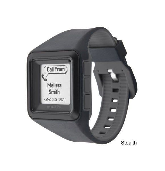 NEW MetaWatch STRATA (Stealth Black) Smartwatch for iPhone iOS Apple and Android  Www.redboxstore.com